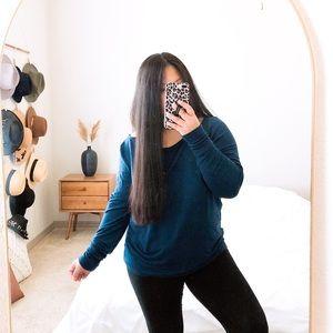 Athleta Cold Shoulder Sweater LS Top